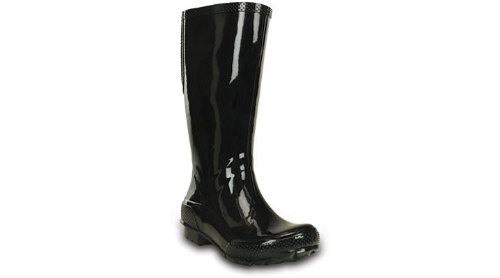 10 Black / Black Women'S Crocs Tall Rain Boot Shoes