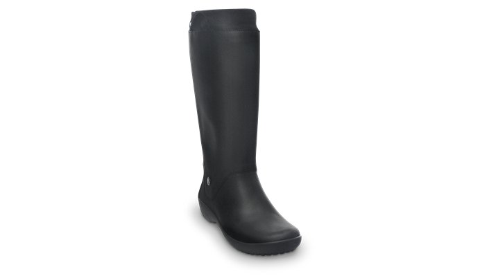Crocs Black / Black Women's Rainfloe Boot Women's Fluid Rubber Rain Boots