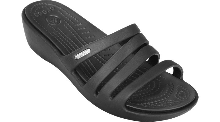 Crocs Black / Black Women's Rhonda Wedge Shoes $ 39.99