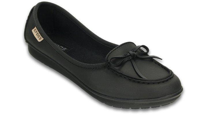 Crocs Black / Black Women'S Wrap Colorlite™ Ballet Flat Shoes