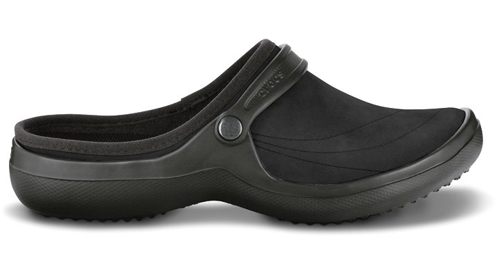 Crocs Black / Black Wrapped Clog Womens Comfortable Clog