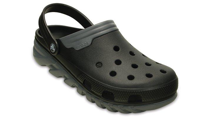 Crocs Black / Charcoal Duet Max Clog Shoes