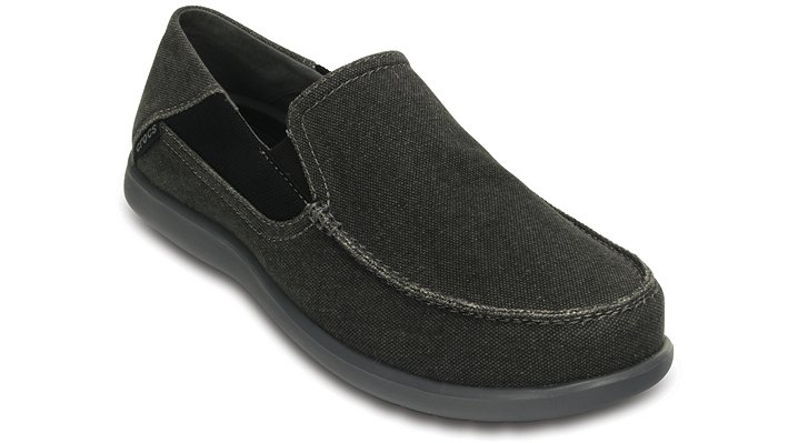 Crocs Black / Charcoal Men'S Santa Cruz 2 Luxe Loafer Shoes