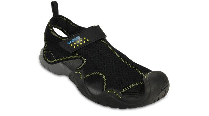 Crocs Black / Charcoal Men'S Swiftwater Sandal Shoes