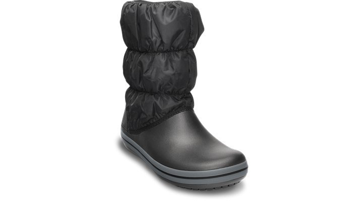 Crocs Black / Charcoal Women'S Winter Puff Boot Shoes