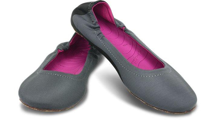Ocean Minded Black / Fuchsia Ocean Minded Women's Waveseeker Ballet Flat Colorful Beach Slip-Ons