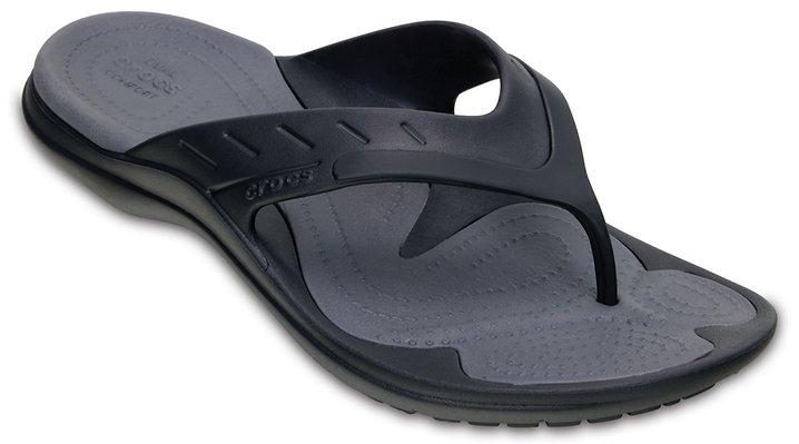 Crocs Black / Graphite Modi Sport Flip Shoes