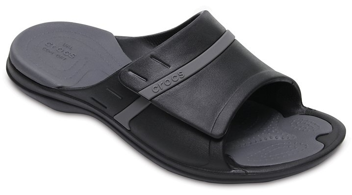 Crocs Black / Graphite Modi Sport Slides Shoes