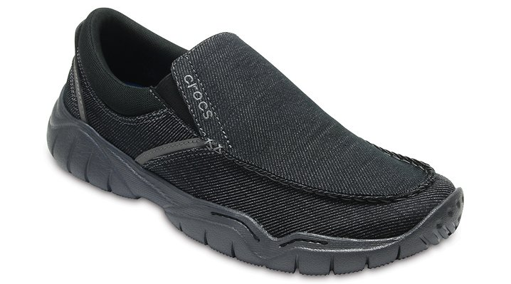 Crocs Black / Graphite Men's Swiftwater Casual Slip-On Shoes