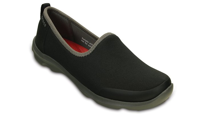 Crocs Black / Graphite Women'S Busy Day Stretch Skimmer Shoes
