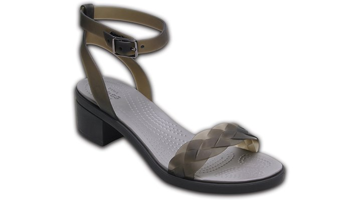 Crocs Black / Graphite Women's Crocs Isabella Block Heels Shoes