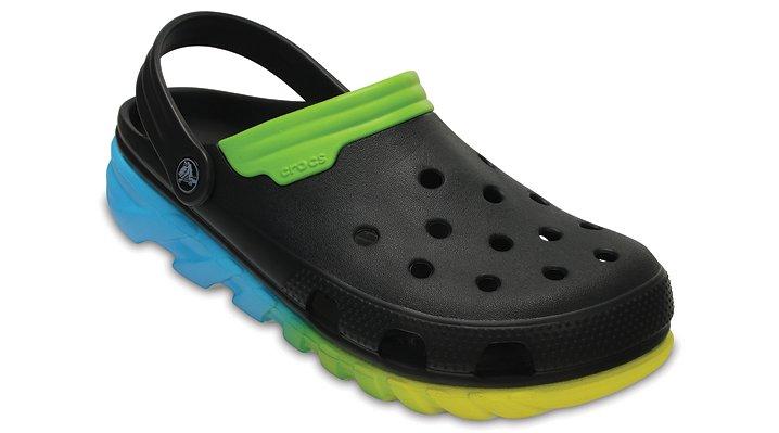 Crocs Black / Green Duet Max Ombre Clogs Shoes