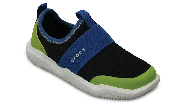 Crocs Black / Ocean Kids' Swiftwater Easy-On Shoes Shoes