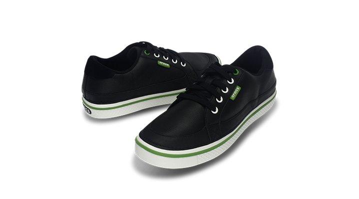 Crocs Black Parrot Green Mens Bradyn Golf Shoe
