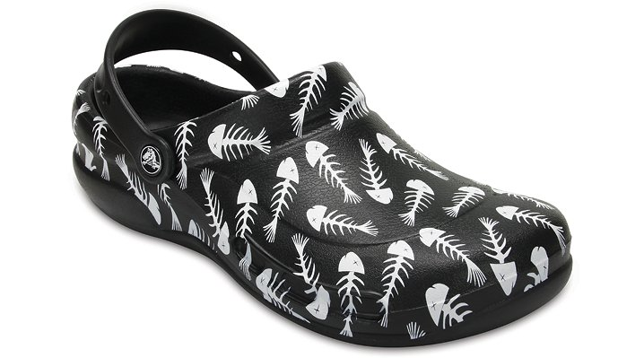 Crocs Pfd Black / Pearl Bistro Graphic Clogs Shoes