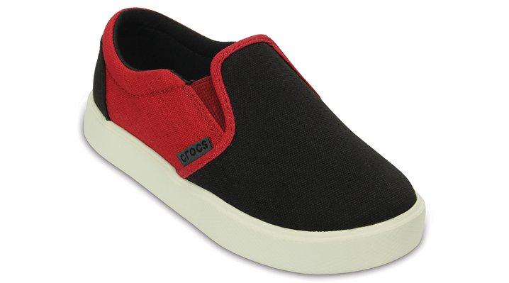 Crocs Black / Pepper Kids' Citilane Slip-On Sneaker Shoes