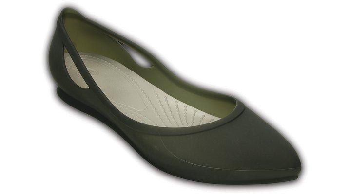 Crocs Black / Platinum Women'S Crocs Rio Flat Shoes