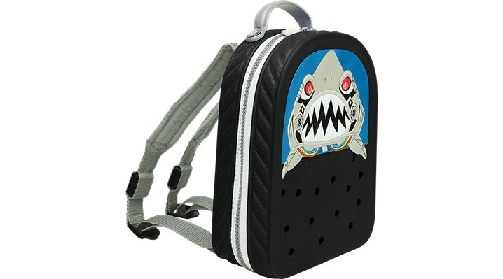 Crocs, Inc. Crocs Black  /  Silver Crocslights Robo Shark Backpack Shoes