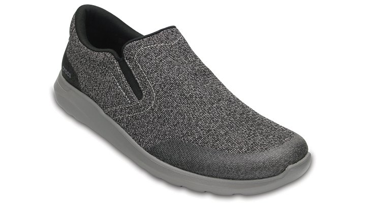 Crocs Black / Smoke Men's Crocs Kinsale Static Slip-On Shoes