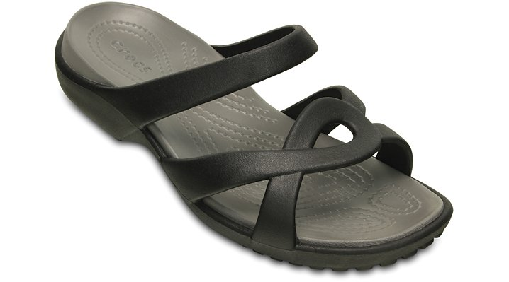 Crocs Black / Smoke Women'S Meleen Twist Sandal Shoes