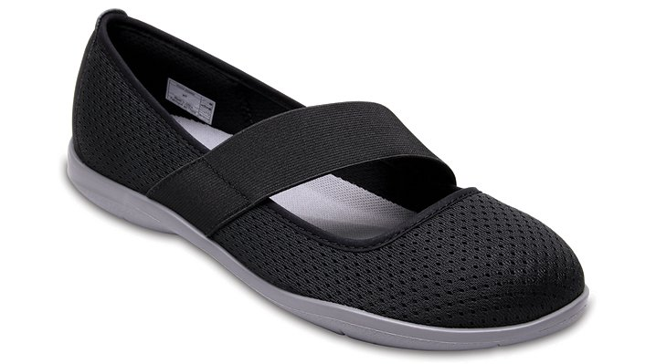 Crocs Black / Smoke Women's Swiftwater Flat Shoes