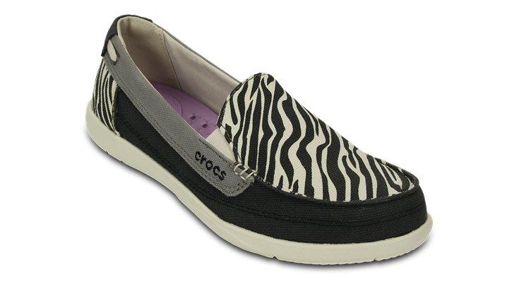 Crocs Black / Stucco Women'S Walu Wild Graphic Loafer Shoes