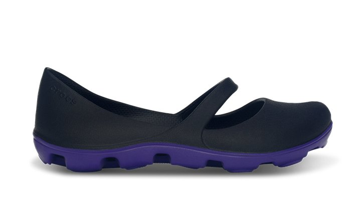 Crocs Black / Ultraviolet Women's Duet Sport Mary Jane Women's Sporty Flats
