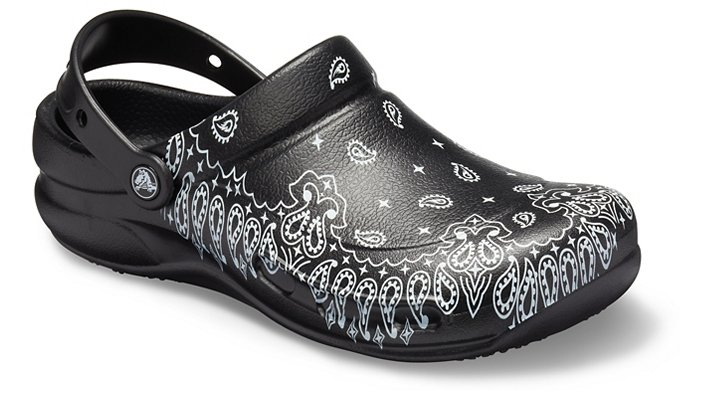 Crocs Pfd Black / White Bistro Graphic Clogs Shoes