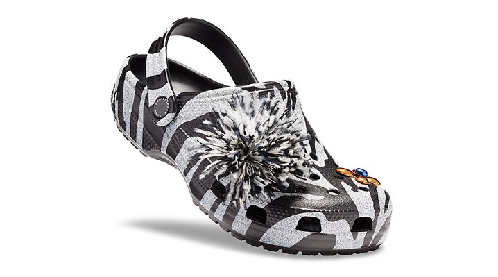 Crocs Black / White Christopher Kane X Crocs Black & White Tiger Clogs Shoes