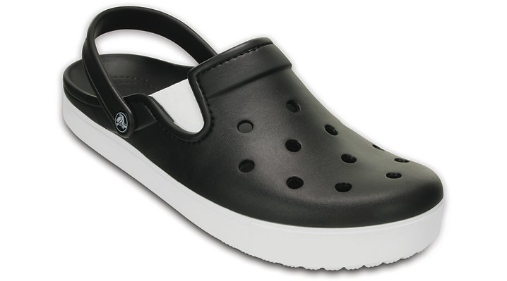 Crocs Black / White Citilane Clog Shoes