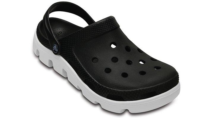 Crocs Black / White Duet Sport Clog Shoes