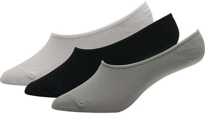 Crocs Black / White Kids' Concealer Socks 3-Pack Shoes