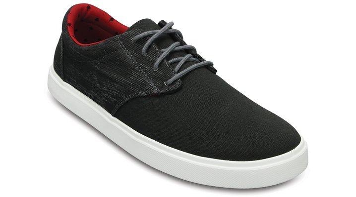 Crocs Black / White Men's Citilane Canvas Lace Shoes