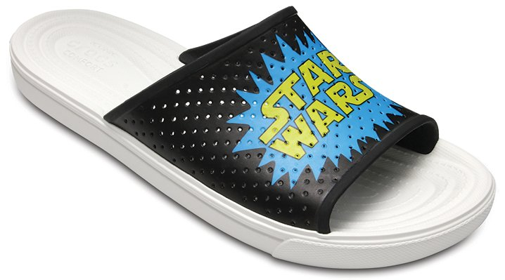 Crocs Black / White Men's Citilane Roka Star Wars™ 40Th Anniversary Slides Shoes