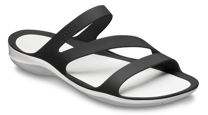 Crocs Black / White Women's Swiftwater Sandal Shoes