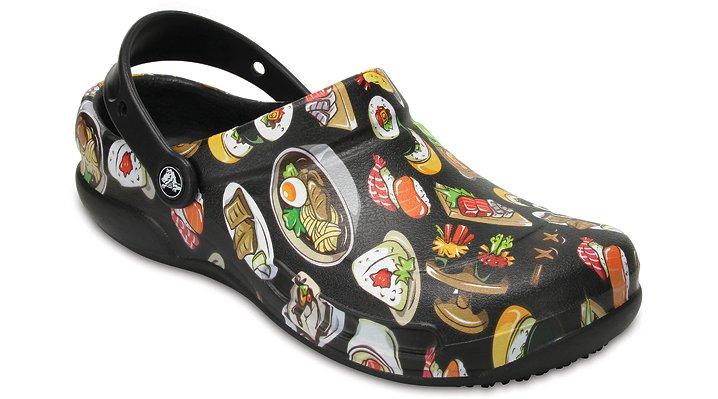 Crocs Pfd Black/ Tumbleweed Bistro Graphic Clogs Shoes