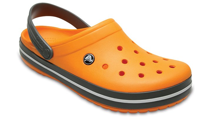 Crocs Blazing Orange/Slate Grey Crocband™ Clog Shoes