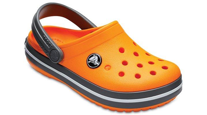 Crocs Blazing Orange/Slate Grey Kids' Crocband™ Clog Shoes