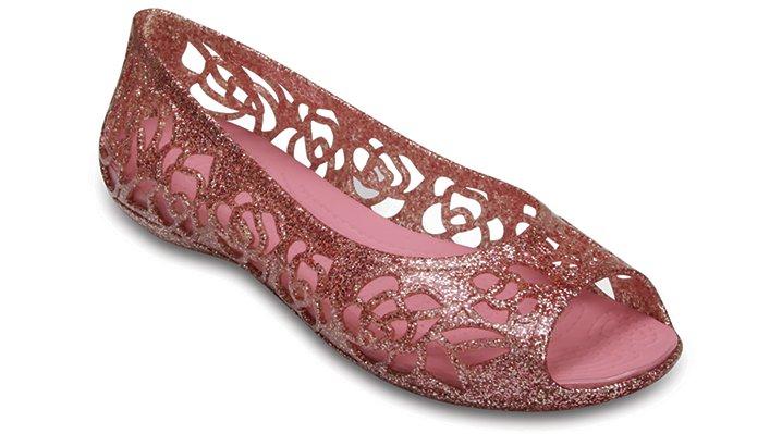 Crocs Blossom Crocs Isabella Glitter Flat (Juniors') Shoes