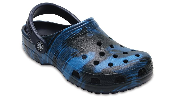 Crocs Blue Jean Classic Graphic Clog Shoes