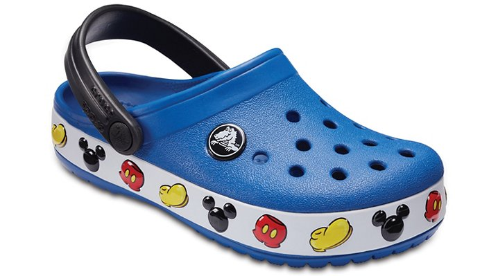 Crocs Blue Jean Kids' Crocband™ Mickey™ Clogs Shoes