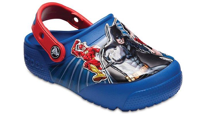 Crocs Blue Jean Kids' Crocs Fun Lab Justice League™ Lights Clogs Shoes