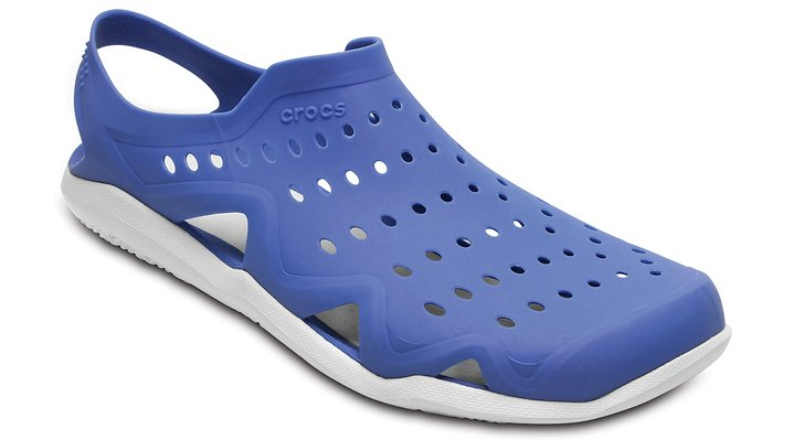 Crocs Blue Jean / Pearl White Men's Swiftwater Wave Shoes
