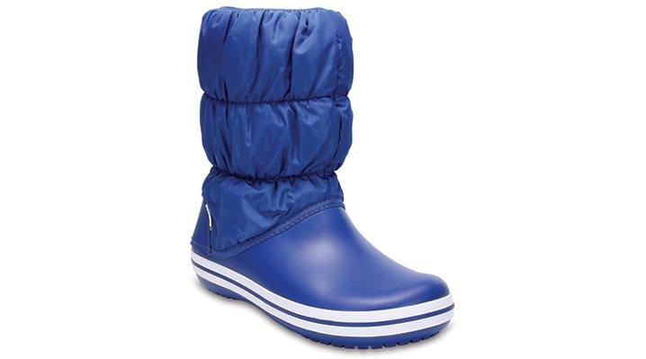 Crocs Blue Jean/Blue Jean Women'S Winter Puff Boot Shoes