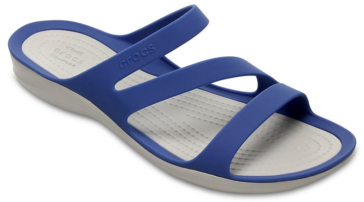 Crocs Blue Jean/Pearl White Women's Swiftwater Sandal Shoes