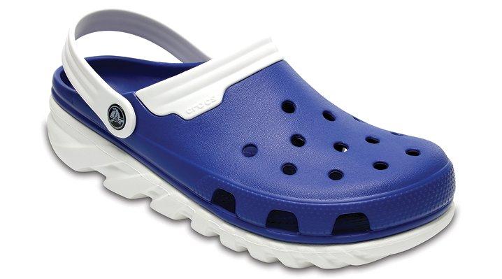 Crocs Blue Jean/White Duet Max Clog Shoes