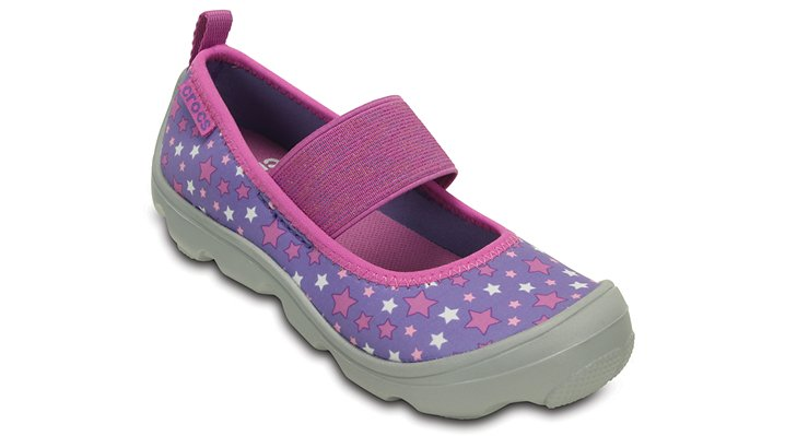 Crocs Blue Violet / Light Grey Girls' Duet Busy Day Galactic Mary Jane (Children'S) Shoes