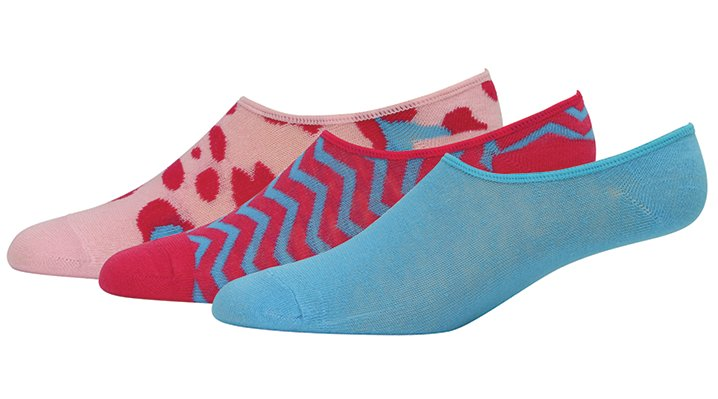 Crocs Blue / Pink Adults' Concealer Socks 3-Pack Shoes