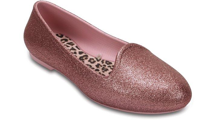 Crocs Blush Kids' Crocs Eve Sparkle Flat Shoes