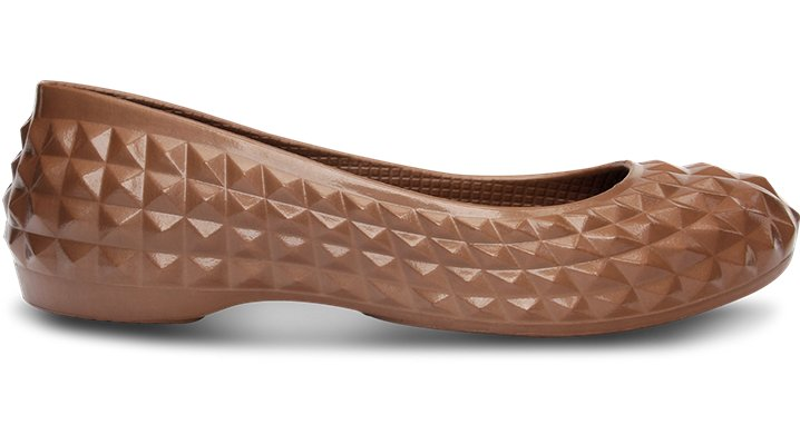 Crocs Bronze Women's Super Molded Patent Flat Women's Fashion-Forward Flats